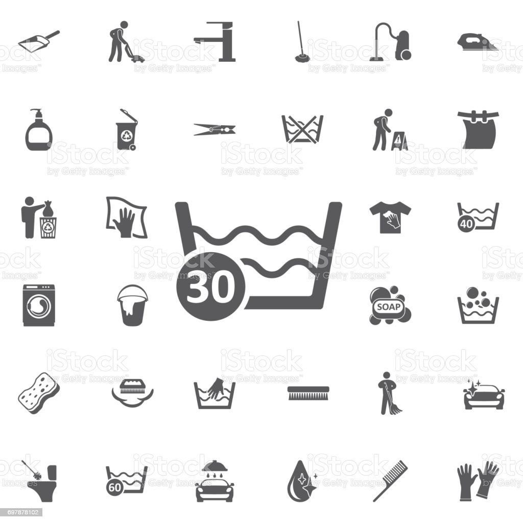 30 degree water vector icon. vector art illustration