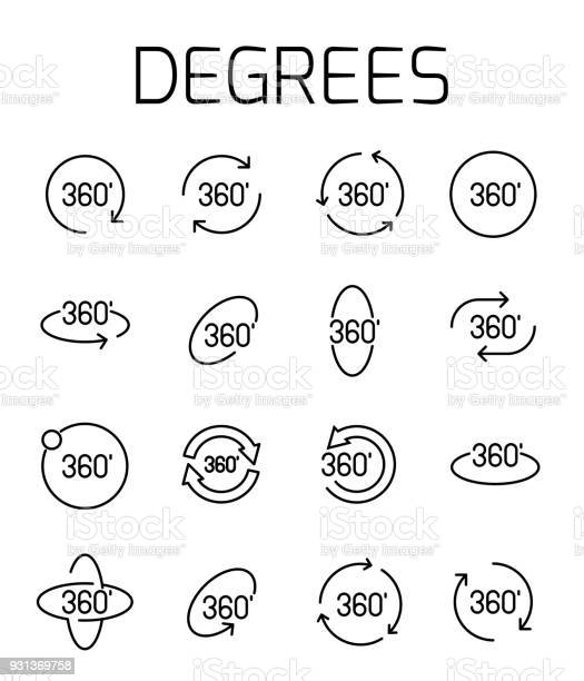 Degrees related vector icon set vector id931369758?b=1&k=6&m=931369758&s=612x612&h=61m39mfilfq7pewqqgzlavanjzhig1tnlqu4g6vy fu=