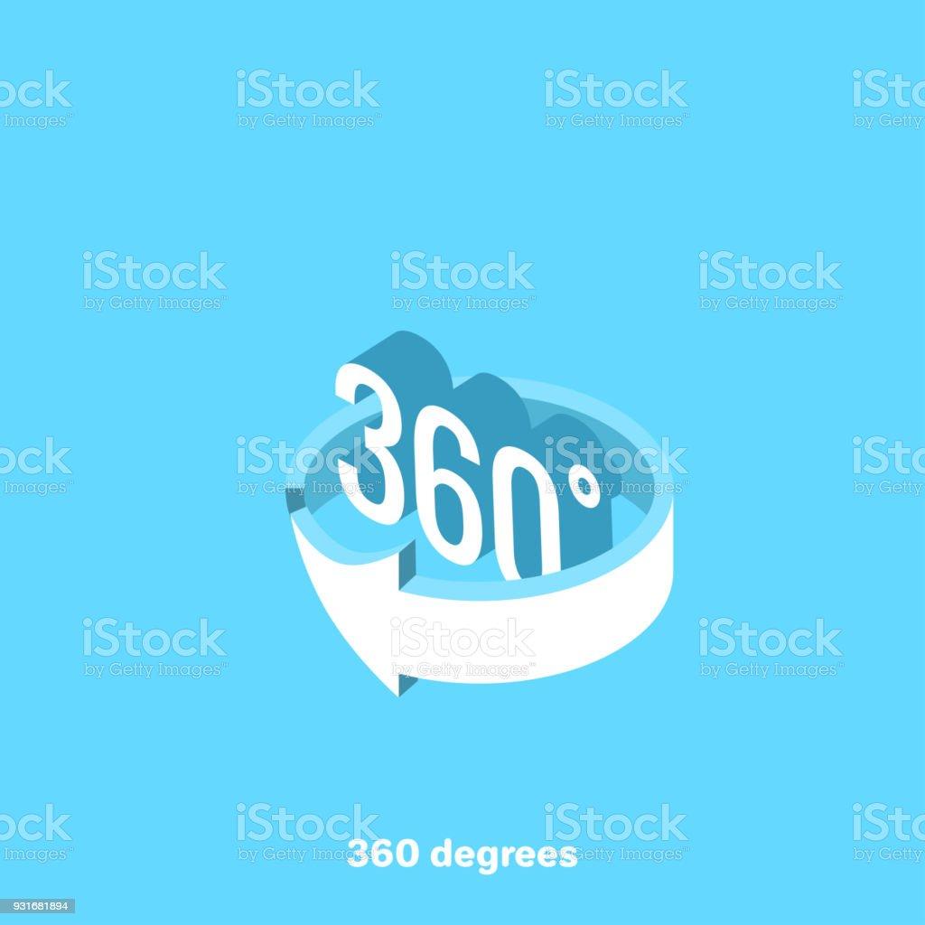 360 grados - ilustración de arte vectorial