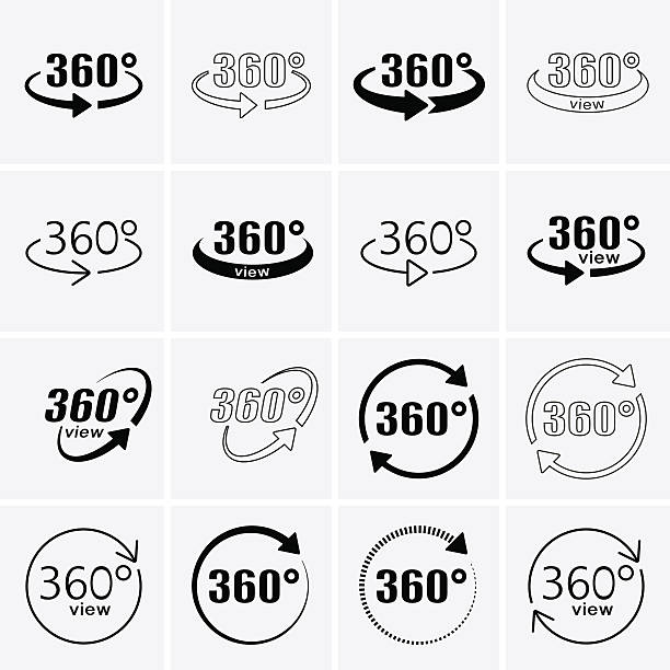 360 Degrees View Icons. Rotate icons. – Vektorgrafik