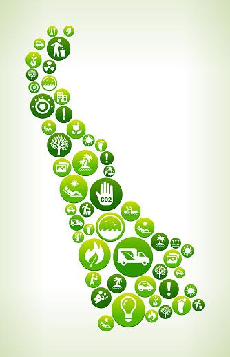 Delaware Environmental Conservation Green Vector Button Pattern.