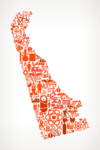 Delaware Healthcare and Medical Red Icon Pattern