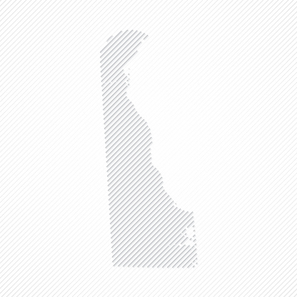 Delaware map designed with lines on white background