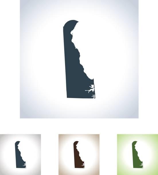 Delaware map vector art illustration