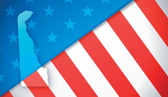 Delaware Patriotic Flag Background