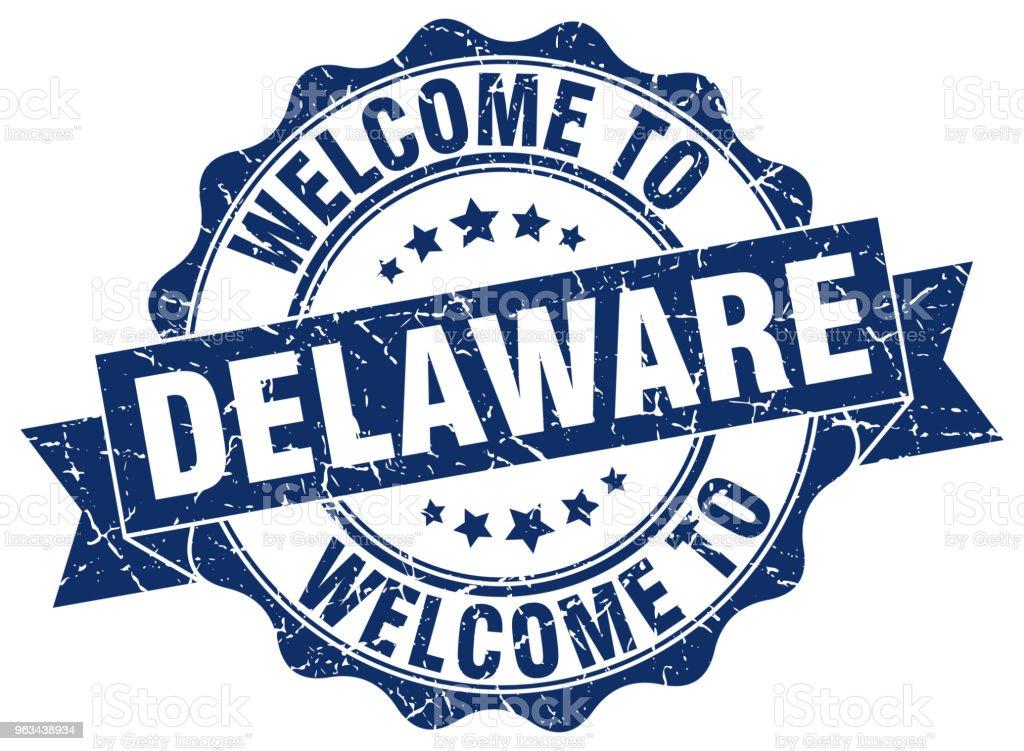 Delaware round ribbon seal - Grafika wektorowa royalty-free (Białe tło)