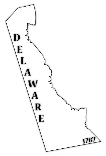 royalty free delaware state outline clip art vector images
