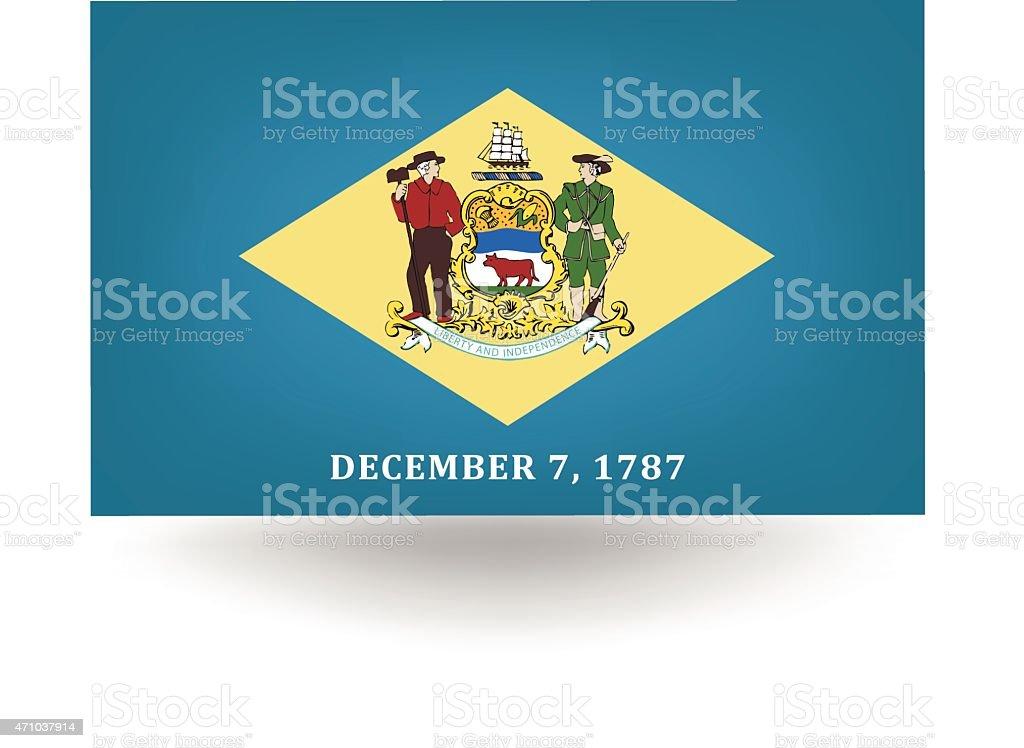 Bandeira do estado de Delaware - ilustração de arte em vetor