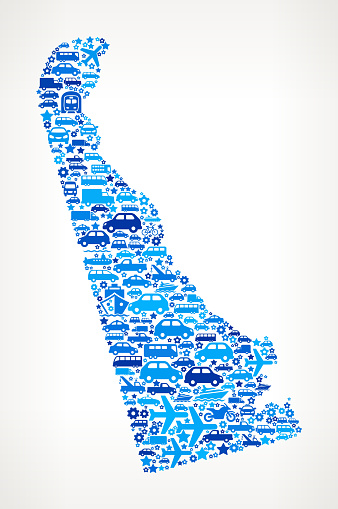 Delaware State On Transportation royalty free vector art Pattern