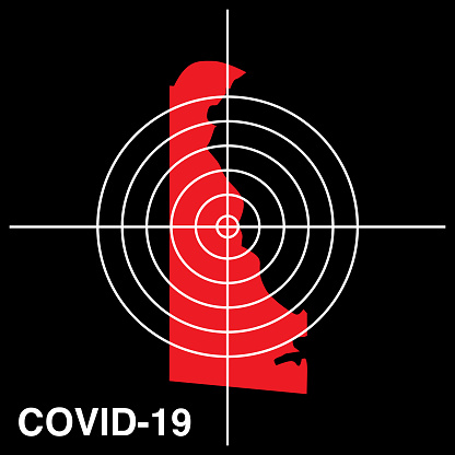 COVID-19 Delaware Target Map Icon
