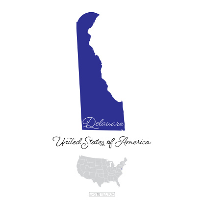 Delaware USA Vector Map Illustration