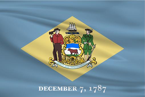 Delaware Waving Flag