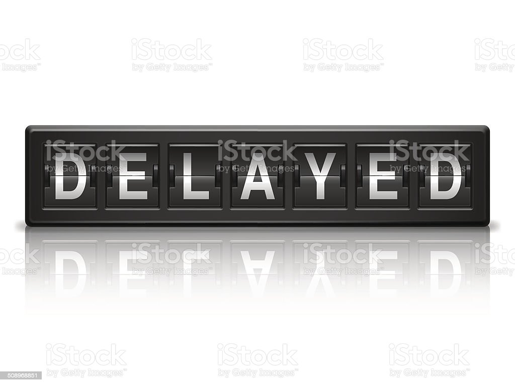Delayed message. vector art illustration