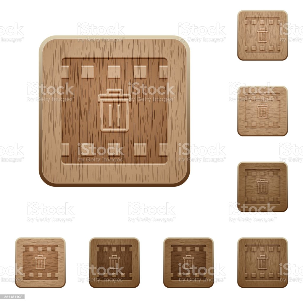 Delete movie wooden buttons royalty-free delete movie wooden buttons stock vector art & more images of applying