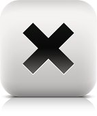 Delete sign rounded square icon black pictogram web internet button