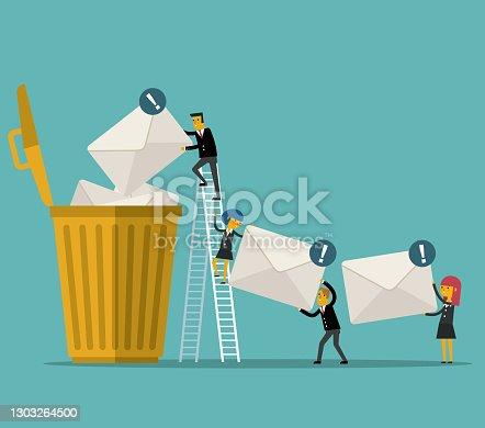 istock Delete the email 1303264500