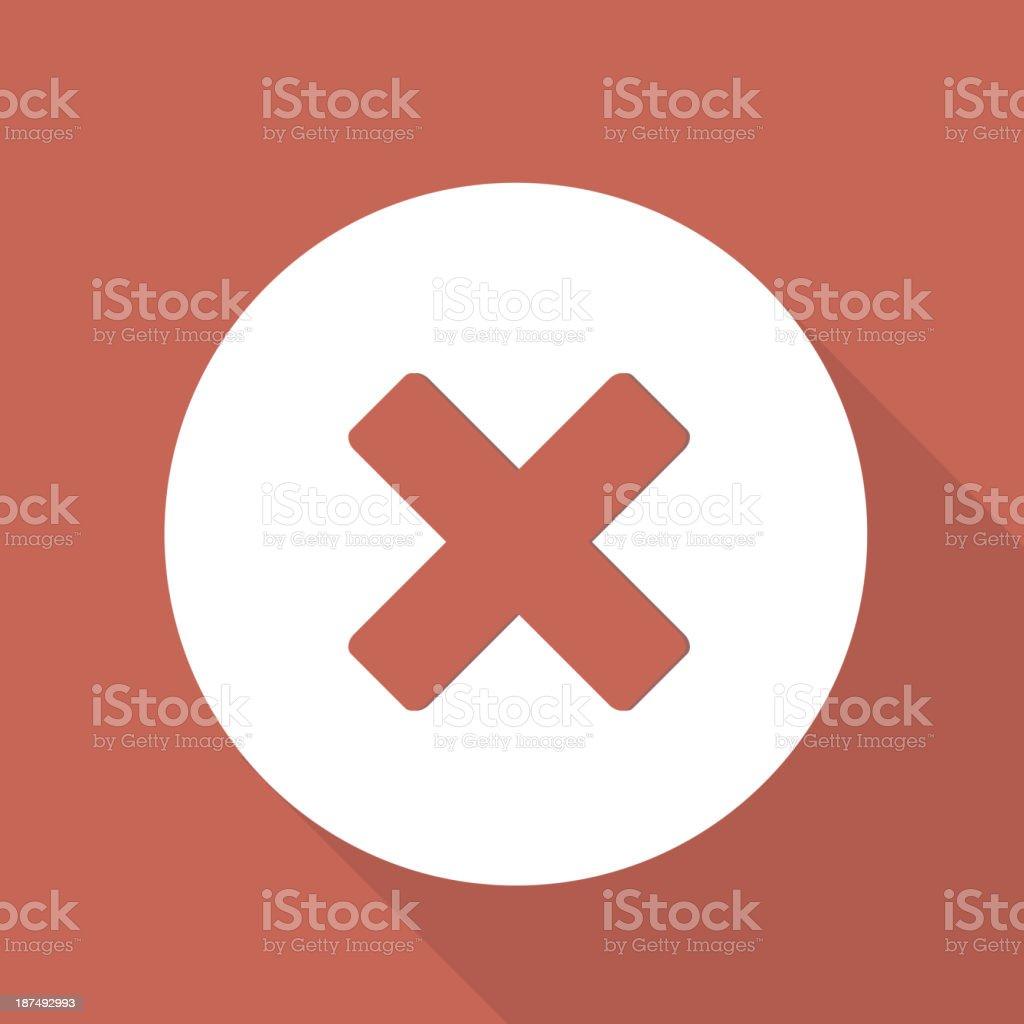 Delete web icon royalty-free stock vector art