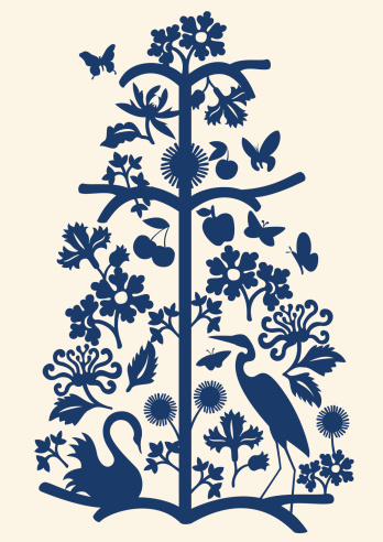 Delft blue botanicals