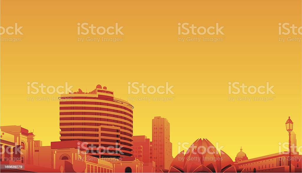 Delhi, India royalty-free delhi india stock vector art & more images of architecture