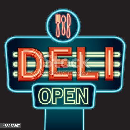 istock Deli neon sign 487572867