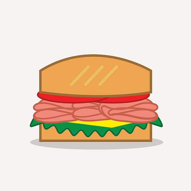 deli sandwich - sub sandwich stock illustrations, clip art, cartoons, & icons