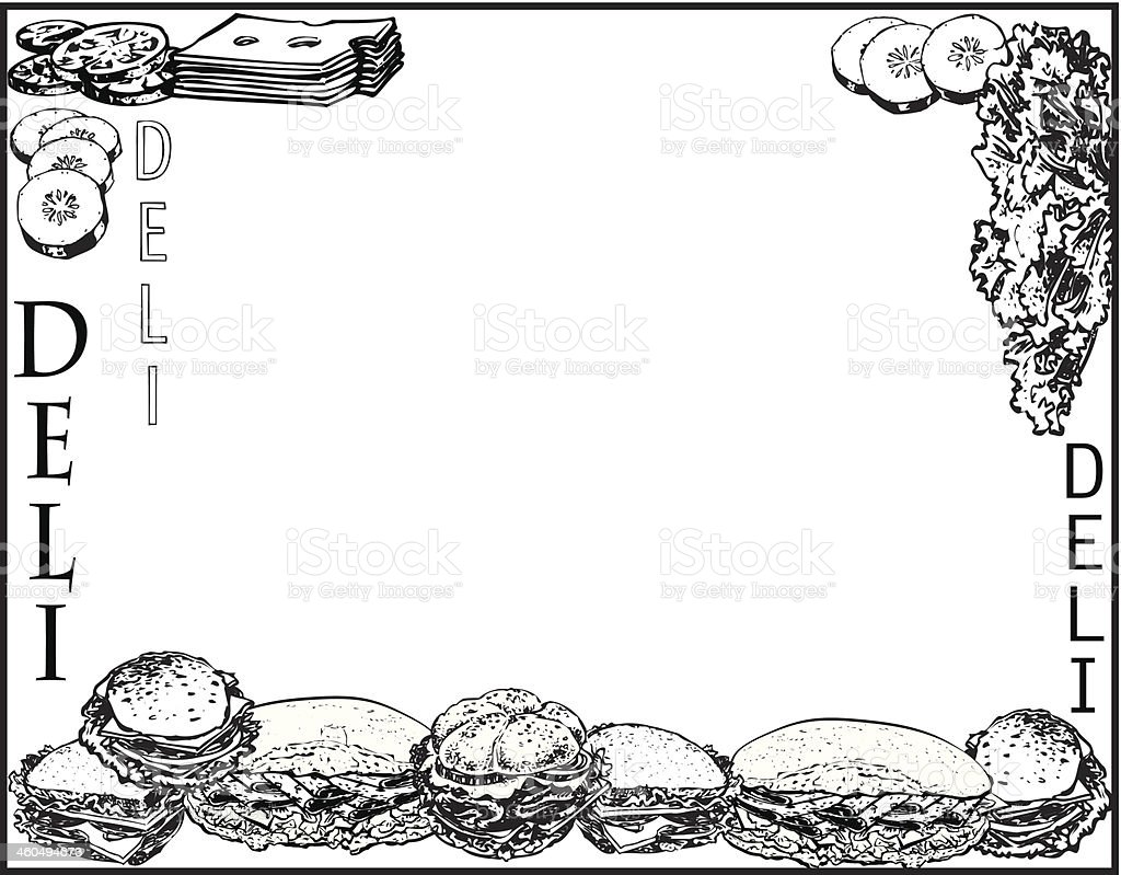 Sandwichs de Deli - Illustration vectorielle
