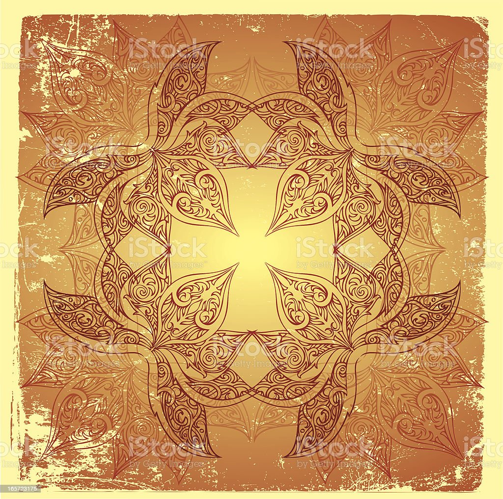 delicate cross mandala royalty-free stock vector art