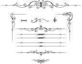 istock Delicate, elegant, fine lined decorative elements 165533501