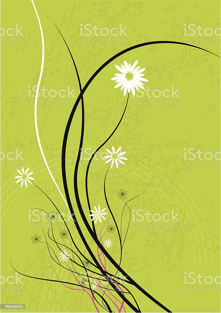 Delicate floral royalty-free stock vector art