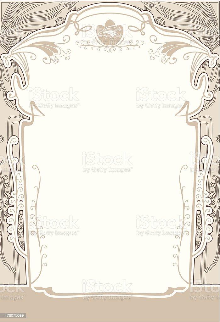 Delicate frame. vector art illustration