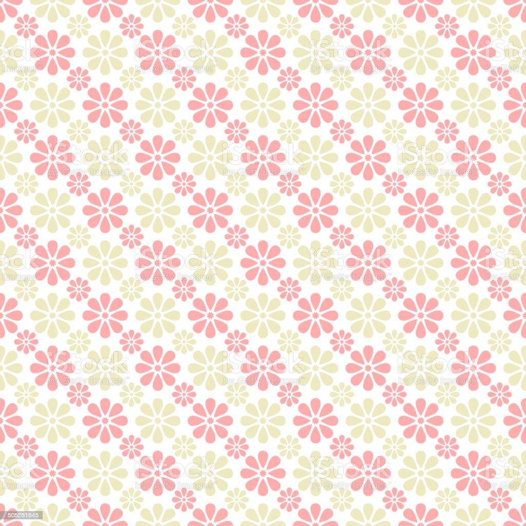 Delicate lovely vector seamless pattern (tiling) vector art illustration