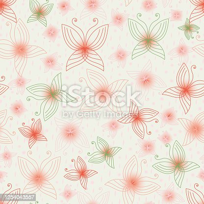 istock delicate pink butterlies seamless vector pattern 1254043557