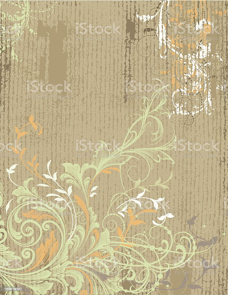 Delicate Scroll Grunge royalty-free stock vector art