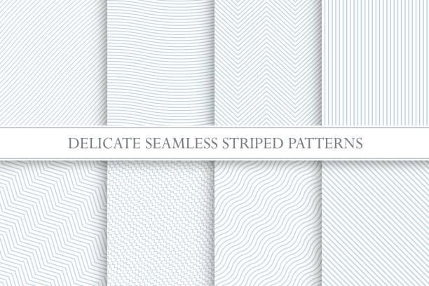 Delicate seamless striped patterns. Decorative fabric geometric textures. Delicate seamless striped patterns. Decorative fabric geometric textures. You can find seamless backgrounds is swatches panel. fragility stock illustrations