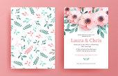 Delicate wedding invitation templates.