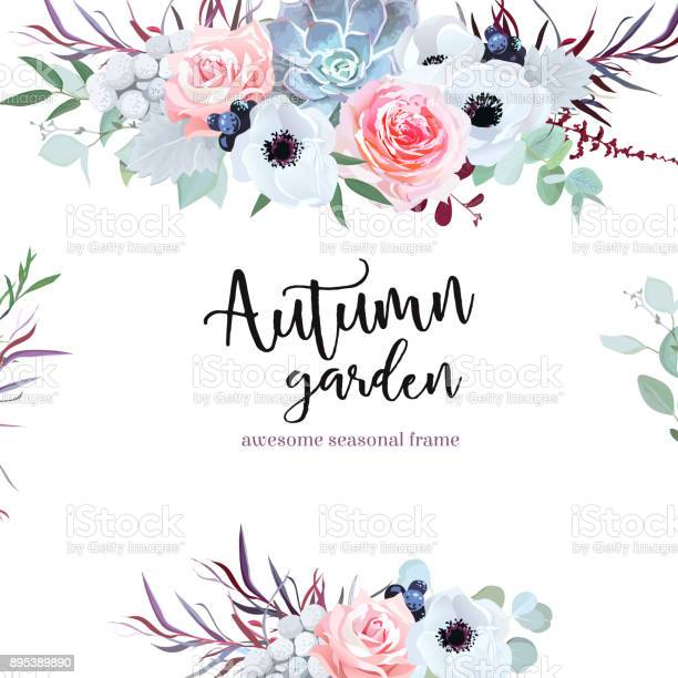 Delicate wedding seasonal flowers vector design card vector id895389890?b=1&k=6&m=895389890&s=612x612&h=bppmmgx35hdgq8nuk3w4dkog7uavzlkmabep0hce3ue=