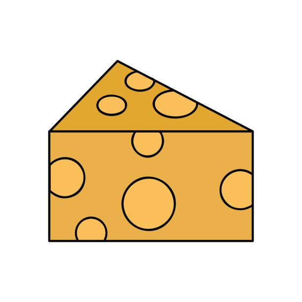 nutrición del alimento delicioso y fresco queso - ilustración de arte vectorial