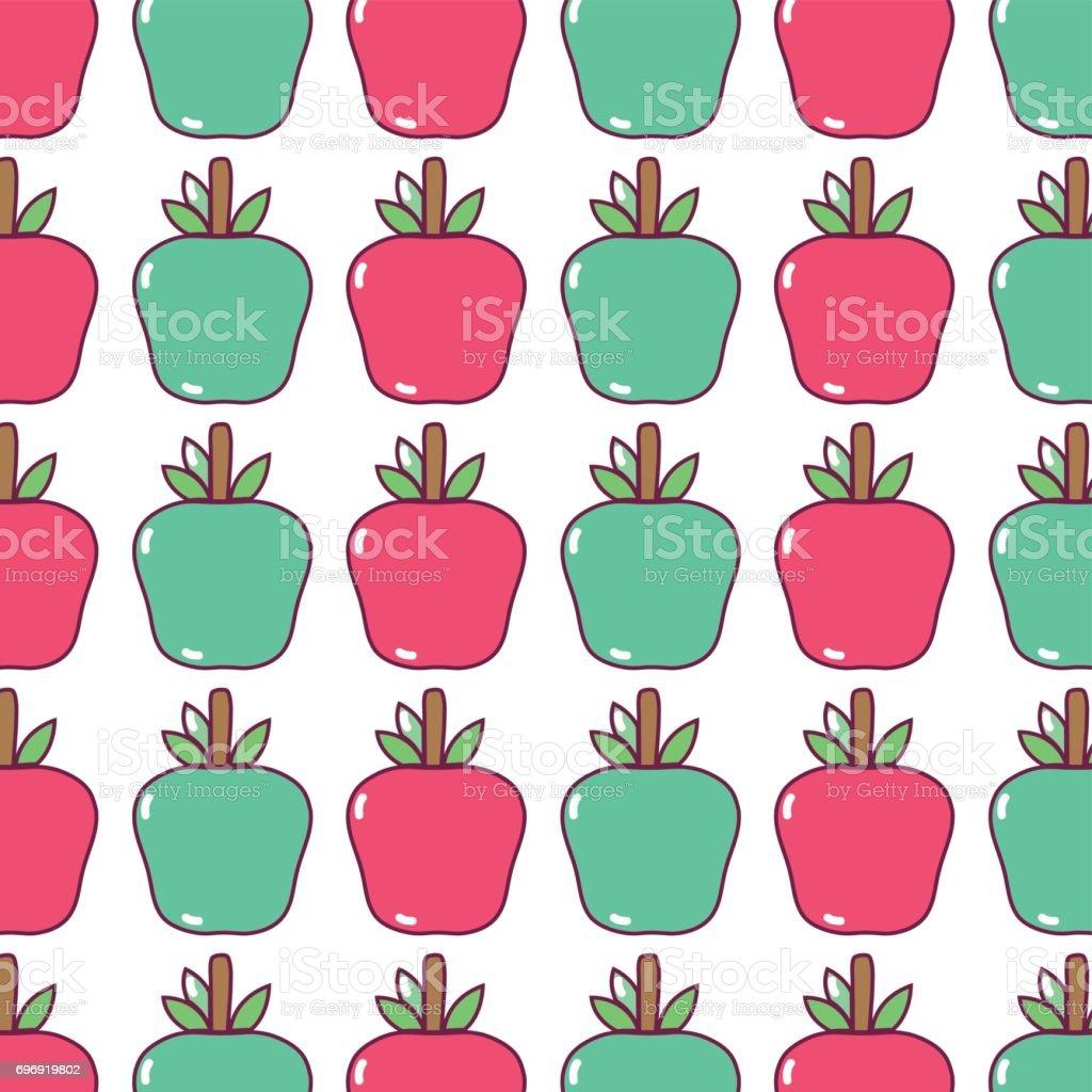 おいしいリンゴ果実背景デザイン のイラスト素材 696919802 | istock