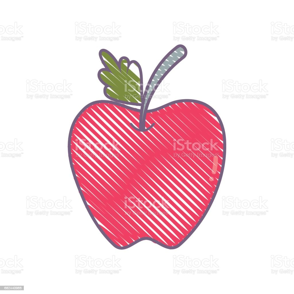 delicious apple fruit with leaf royalty-free delicious apple fruit with leaf stock vector art & more images of agriculture
