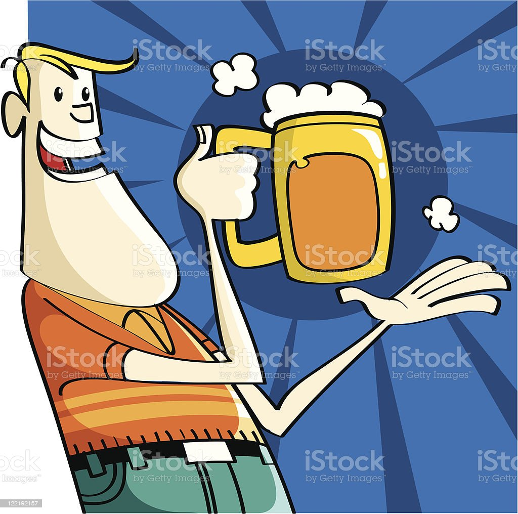 delicious beer royalty-free stock vector art