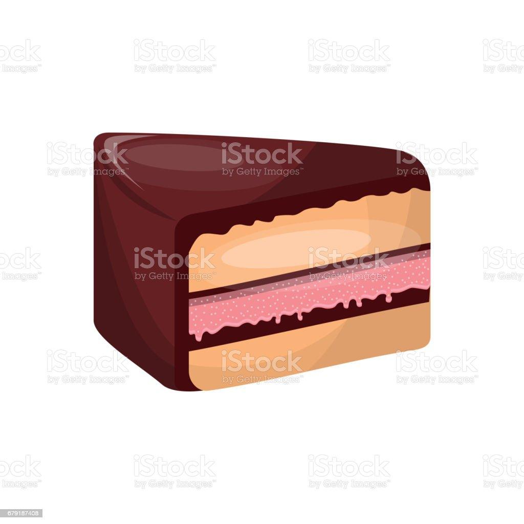 delicious cake sweet portion icon delicious cake sweet portion icon - arte vetorial de stock e mais imagens de aniversário royalty-free