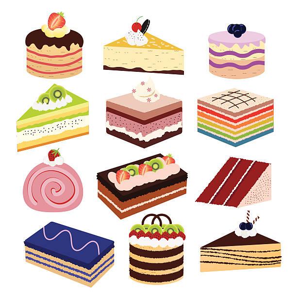 köstliche kuchen - tiramisu stock-grafiken, -clipart, -cartoons und -symbole