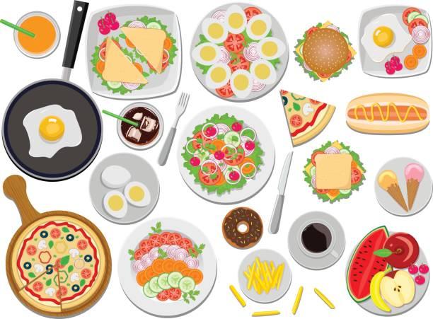 köstliche - spiegelei stock-grafiken, -clipart, -cartoons und -symbole