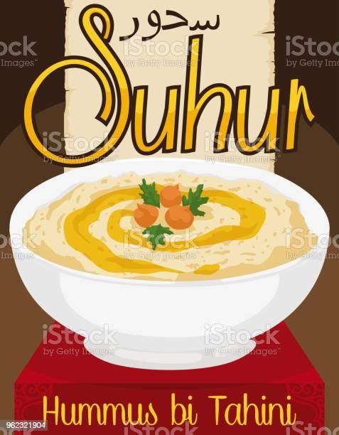 Delicious hummus bi tahini with olive oil for ramadans suhur vector id962321904?b=1&k=6&m=962321904&s=612x612&h=5x0s2ftcmsor9qpdnuofdzn7rvyero7hbwgr tx17wo=