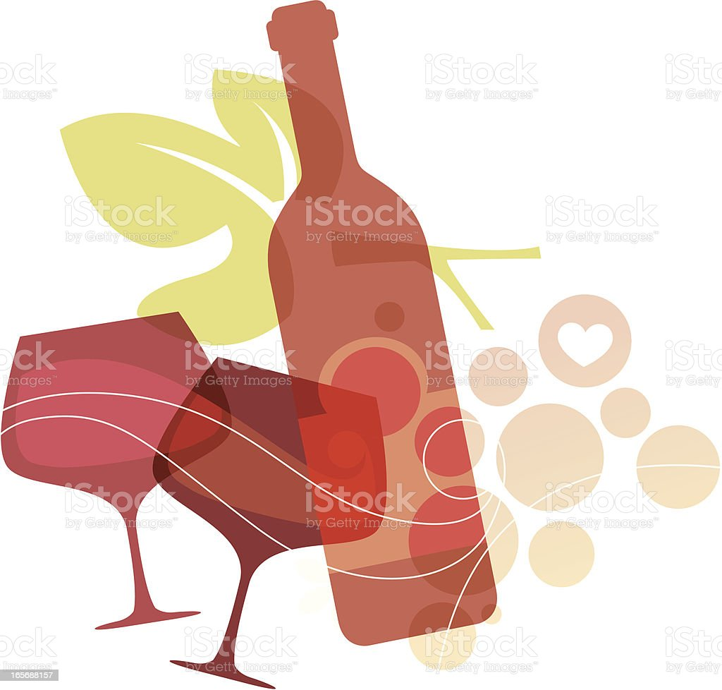 Delicious Living (Red Wine) vector art illustration