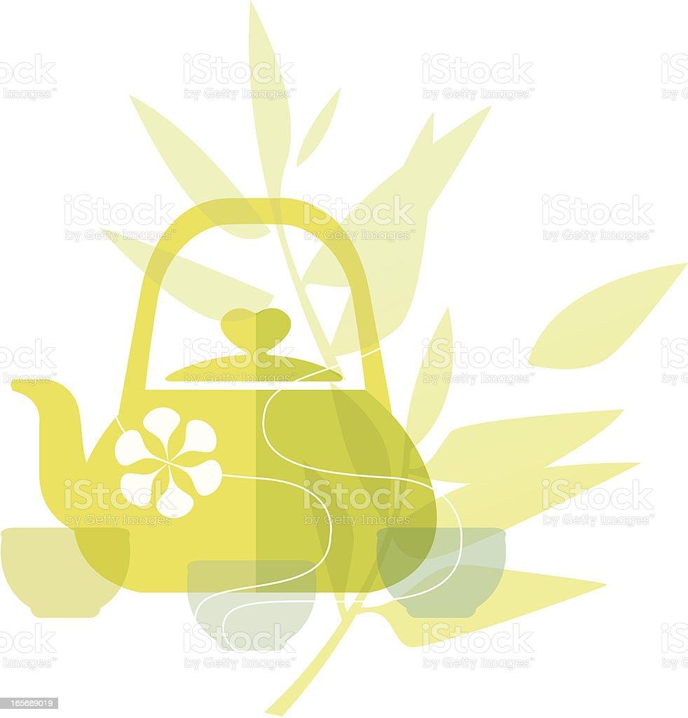 Delicious Living (Green Tea) royalty-free stock vector art