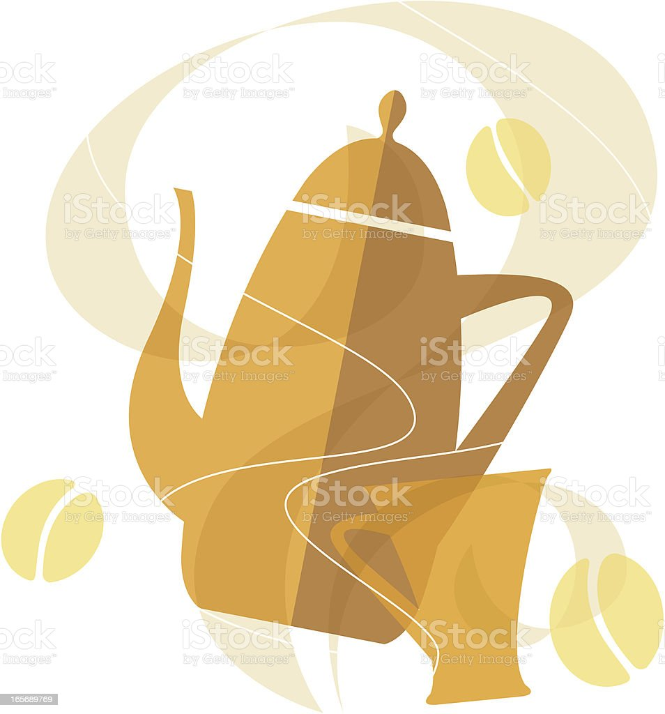 Delicious Living (Coffee) royalty-free stock vector art