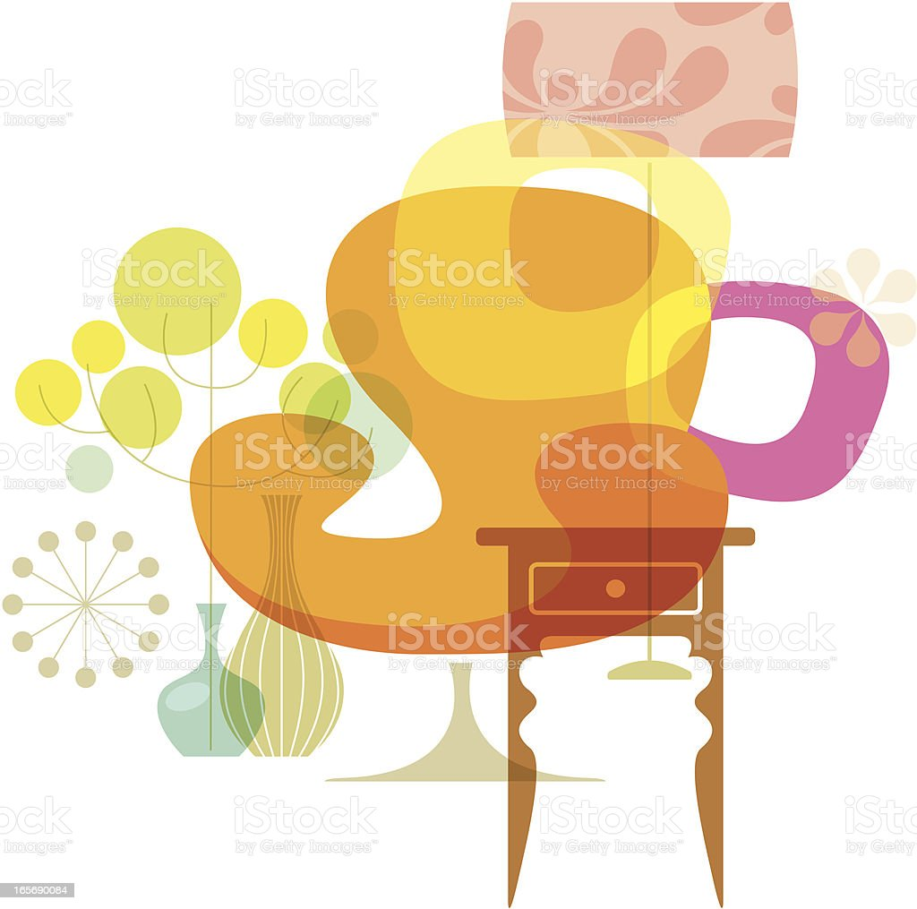 Delicious Living (Interior) vector art illustration