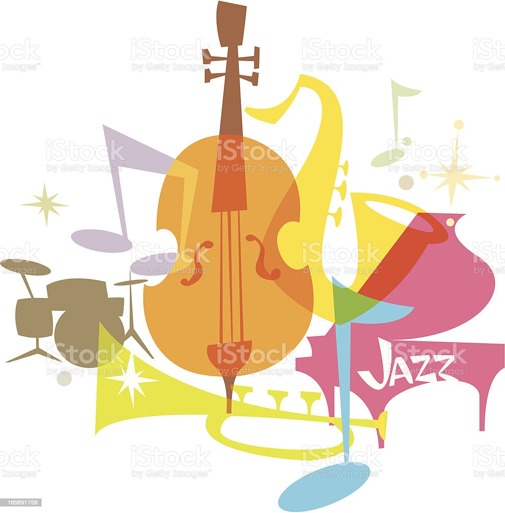 Delicious Living (Jazz) vector art illustration