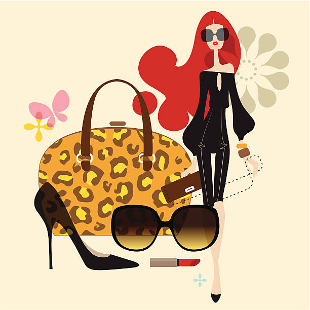 delicious living (fashion) - shoes fashion stock illustrations, clip art, cartoons, & icons